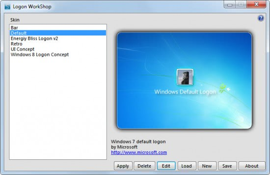 windows 7 logon customizer