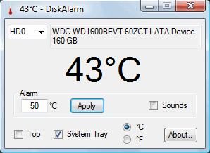 disk alarm