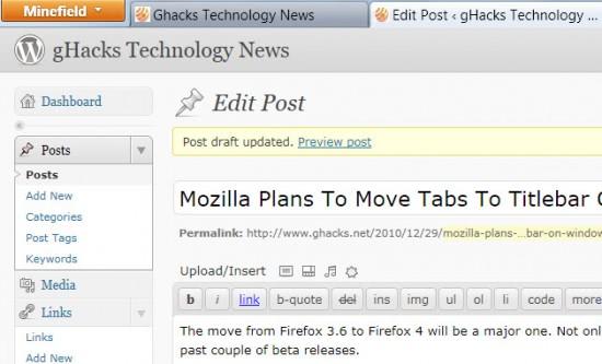 firefox 4 tabs titlebar