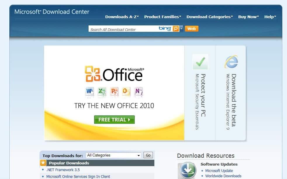 download software ms office 2010