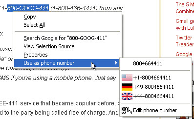 firefox call phone number