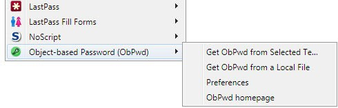 object-based password