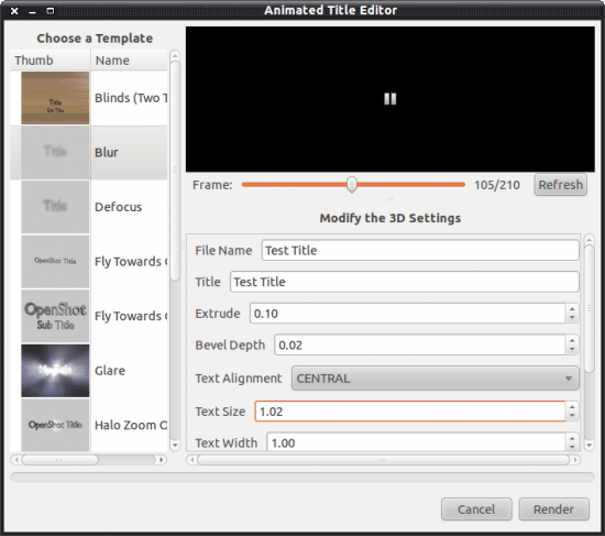 Add titles to OpenShot Video Editor projects