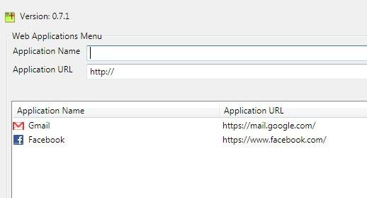 web application tab
