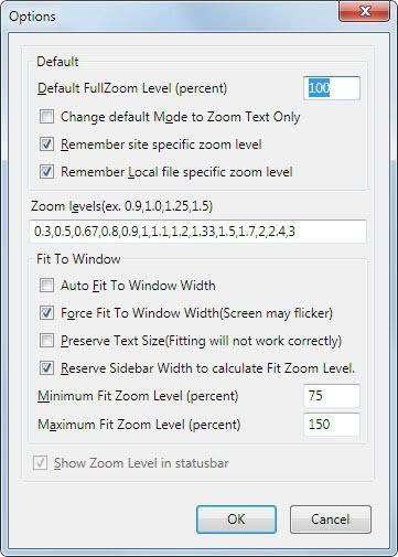 firefox default zoom level