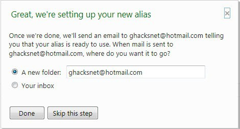 hotmail alias
