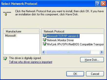 install ipv6 windows xp