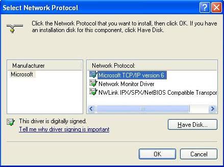 install ipv6 windows xp
