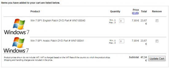 order windows 7 sp1