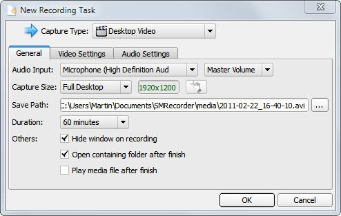 SMrecorder record video