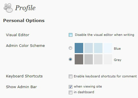 wordpress disable admin bar