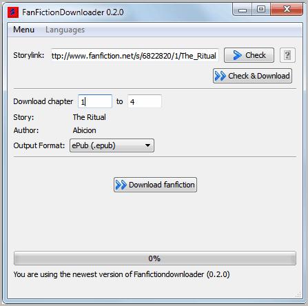 fanfiction downloader