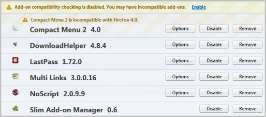 firefox slim add-on manager