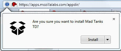 firefox web apps installation