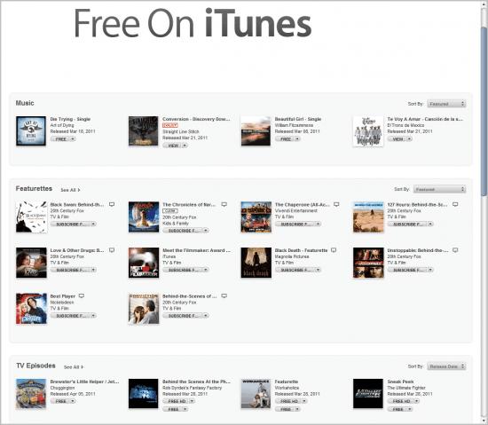 free on itunes music
