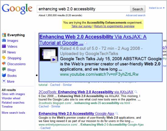 google accesibility