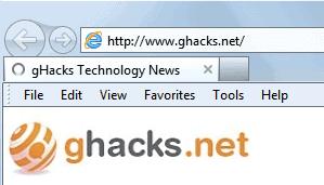 internet explorer 9 menubar