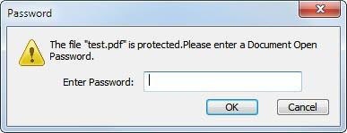 password protect pdf