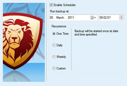 schedule backups
