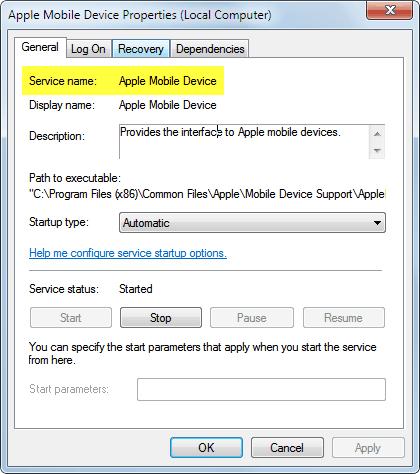 service name