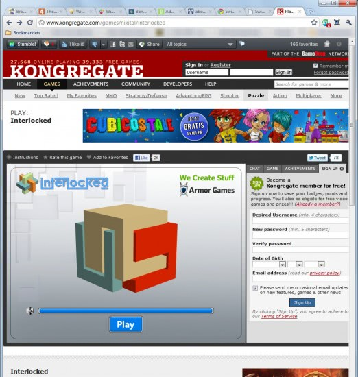 kongregate fullscreen chrome