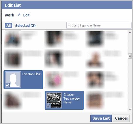 edit friend list