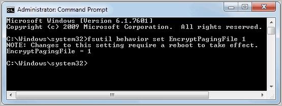 encrypt pagefile
