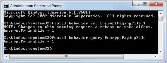 encrypt windows pagefile