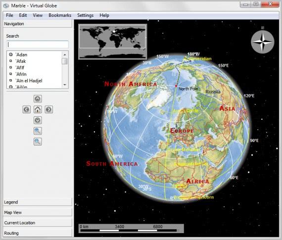 marble virtual globe