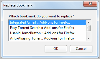 replace bookmark