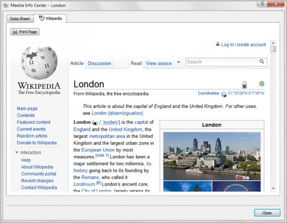 virtual globe city