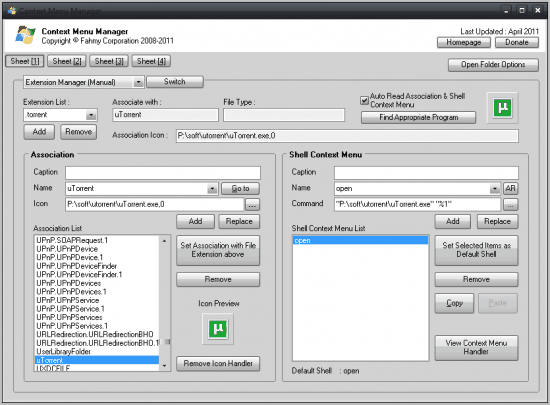 windows context menu manager