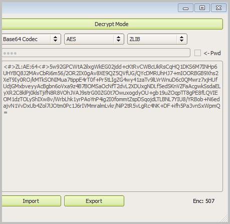decrypt mode