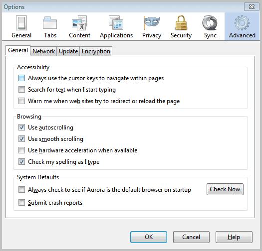 firefox default browser