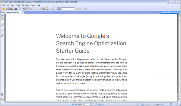 foxit reader 5 interface