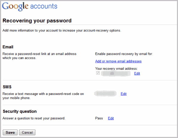 Set up a recovery phone number or email address - Google Help