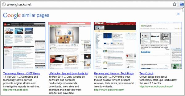 google similar pages chrome