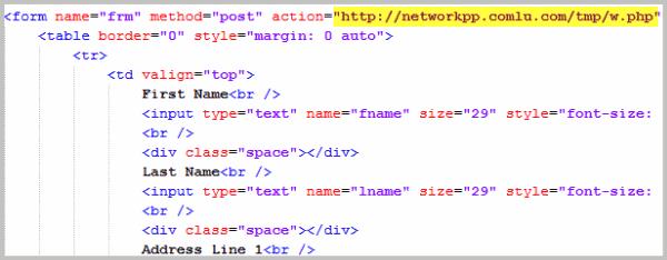 html phishing