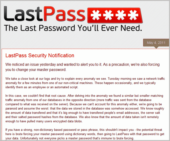last pass security