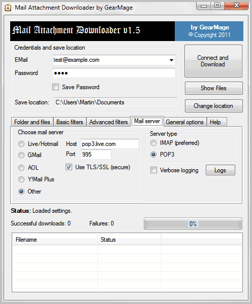 mail attachment downloader