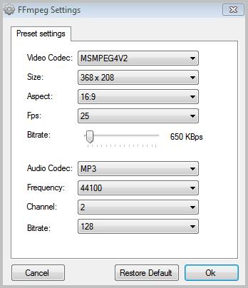 video conversion settings