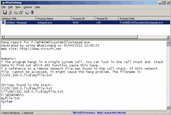 whatishang software not responding
