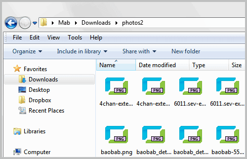 windows explorer sort
