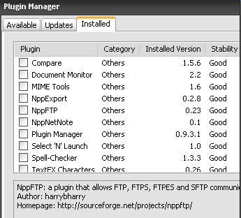 notepad plugins