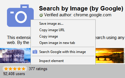 search google with this image