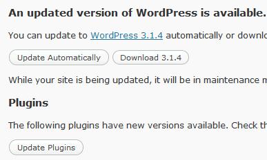 WordPress 3.1.4 Security Update Released