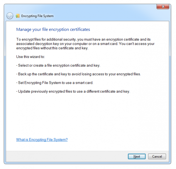 encryption windows