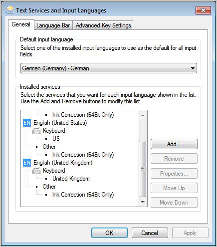 add keyboard language