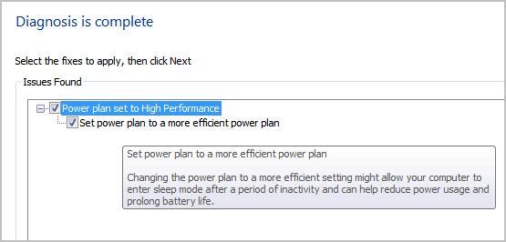 power diagnosis