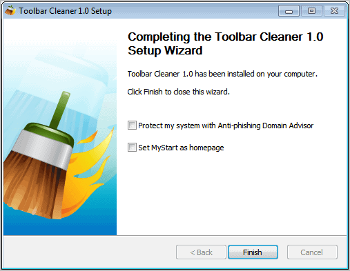 toolbar cleaner setup